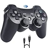 Mando PS3,Sefitopher Bluetooth Controller Joystick con Doble vibración para Playstation 3 con Cable