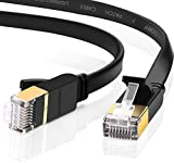 UGREEN Cable de Red Cat 7, Cable Ethernet Network LAN 10000Mbit/s con Conector RJ45 (10 Gigabit, 600MHz, Cable FTP) para PS5, Xbox X/S, PC, Compatible con Cat 6, Cat 5e, Cat 5, Cable Plano(2 Metros)