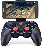 Maegoo Mando Inalámbrico para PC, PS3 Mando 2.4G Bluetooth Game Controller Gamepad Joystick Inalámbrico con Soporte de Teléfono para Android Smartphone Xiaomi Huawei Samsung PC Windows PS3 Smart TV
