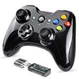 EasySMX Mando Inalámbrico, [Regalos de Padre] 2.4GHz Gaming Controller Gamepad Joystick con Doble Vibración, Batería de Litio Juega con 8 Horas para PS3 / PC/Android Phones
